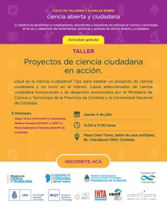Lee más sobre el artículo Córdoba: Ciclo de Ciencia Abierta y Ciudadana